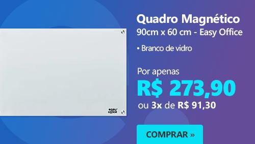 Quadro magnético 90x60 branco de vidro GL9060MAG Easy Office