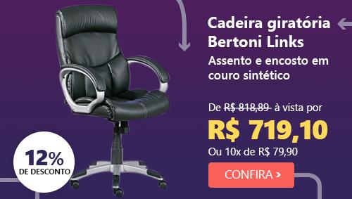 Cadeira giratória Bertoni preta Links