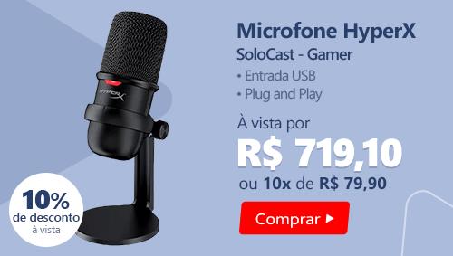 Microfone Gamer Gamer Solocast HMIS1X-XX- HyperX