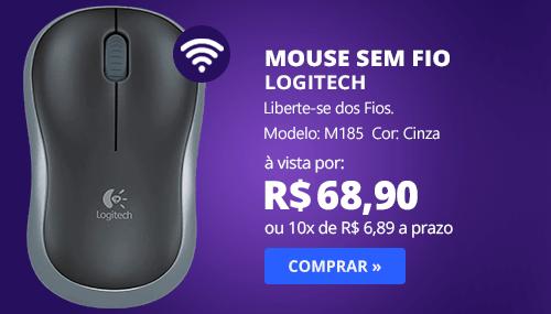 Mouse sem fio cinza M185 Logitech CX 1 UN