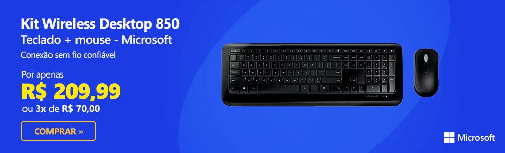 Kit wireless (teclado/mouse) Desktop 850 PY9-00021 MFT Microsoft com Frete Grátis para todo o Brasil