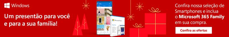 Smartphones - Inclua Microsoft 365 Family em sua Compra
