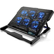 Base p/notebook c/6 coolers + 2 usb LED azul AC282 Multilaser CX 1 UN