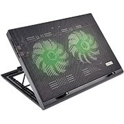 Base p/notebook c/2 coolers led green AC267 Multilaser CX 1 UN