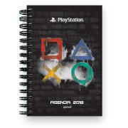 Agenda diária Playstation 2018 00484 Spiral Ps PT 1 UN