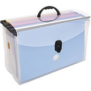 Arquivo maleta pp cristal c/10 pastas suspensas coloridas Dello