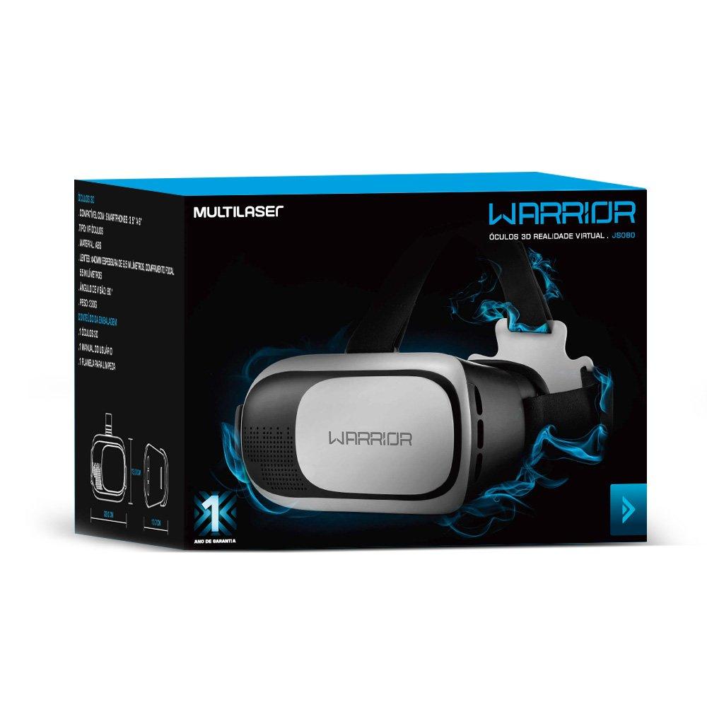 67c853382 Óculos de realidade virtual 3D VR Glass JS080 Warrior - Smartphones &  Telefonia - Kalunga.com