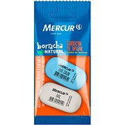 Borracha oval Pull Pack azul e branca Mercur BT 2 UN