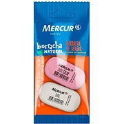 Borracha oval Pull Pack rosa e branca Mercur BT 2 UN