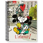 Caderneta 1/8 capa dura 96fls Mickey Minnie 12296 Spiral Dm (091248)