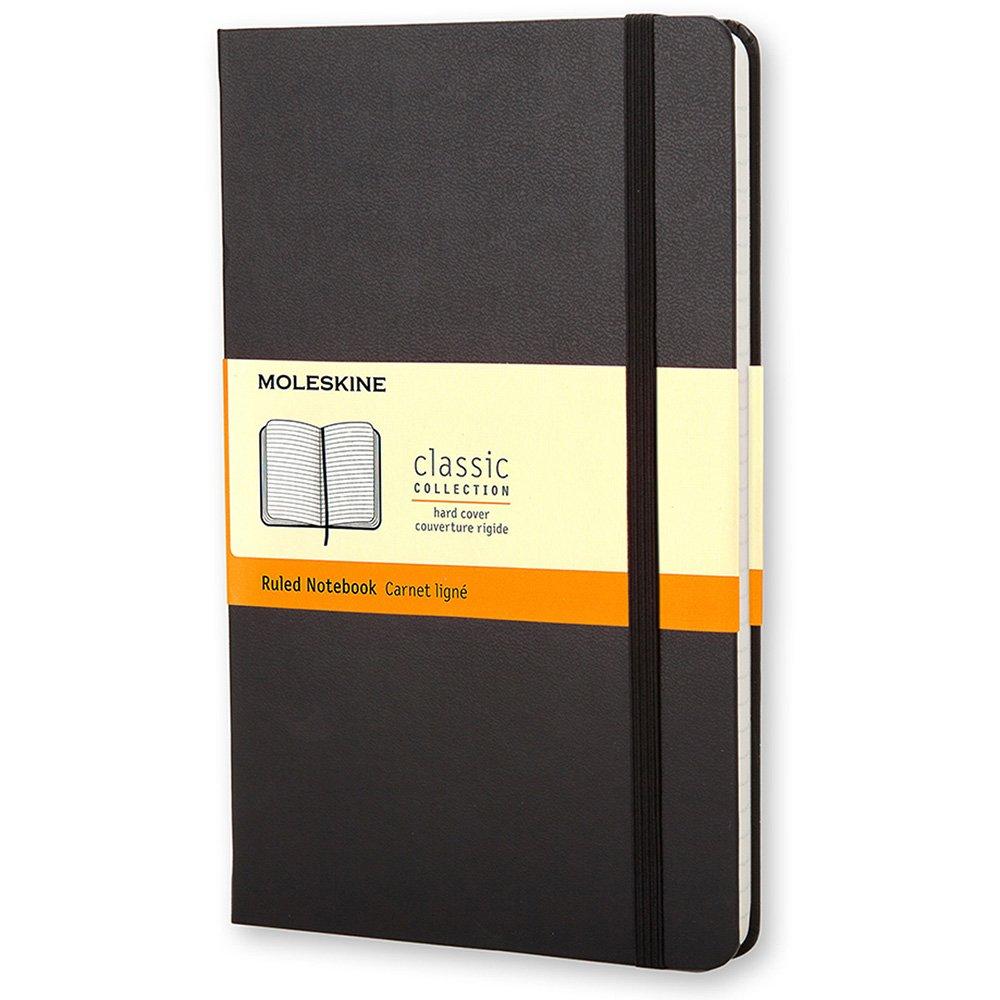 ceb0e23d7 Caderno Anotações Pautado Classic Preto De Bolso Moleskine