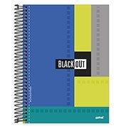 Caderno universitário capa dura 10x1 200fl Black Out 89483 Spiral PT 1 PT