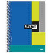 Caderno Universitário capa dura 1x1 96 fls Black Out 82668 Spiral PT 1 PT