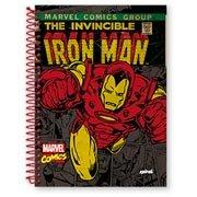 Caderno Universitário Capa Dura 15x1 300fls Iron Man 95774 Spiral Mv