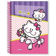 Caderno Universitário Capa Dura 1x1 96 fls Pop Pet 07834 Spiral (130524)