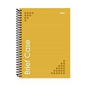 Caderno universitário capa dura 1x1 96 fls amarelo Brief Case 91819 Spiral