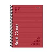 Caderno universitário capa dura 1x1 96 fls vermelho Brief Case 91826 Spiral