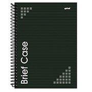 Caderno universitário capa dura 1x1 96 fls preto Brief Case 91857 Spiral