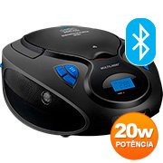 Caixa de som 20w rms Bluetooth/CD/FM/AUX/SD SP223 Multilaser CX 1 UN