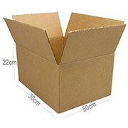Caixa papelão transporte / mudança C50xL30xA22 Rigesa