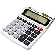 Calculadora de mesa (bat/solar/8 digitos) cinza 802 Spiral Digit