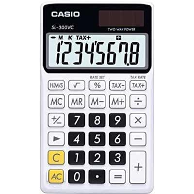 54906ba1c58 Calculadora de bolso (bat solar 8 dígitos) preta SL-300NCBK Casio CX 1 UN
