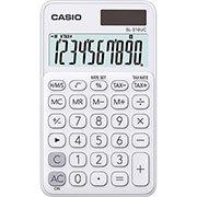 Calculadora de bolso ( bat / solar / 10 dígitos ) branca SL - 310UC Casio