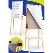Cavalete flip-chart c/quadro branco e bandeja Stalo