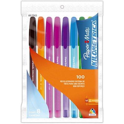 caneta esferográfica 1 0mm kilométrica 100 sr 2049444 paper mate