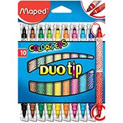 Caneta hidrografica 10 cores Color Peps Duo Tip 849010 Maped BT 1 UN