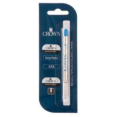 a897758c3db Carga p  caneta esferográfica ponta média azul CA14007A Crown BT 1 UN