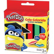 Cola colorida 23g c/06 cores Play-Doh 02694 Play Doh BT 1 UN