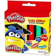 Cola colorida 23gr c/gliter 6 cores Play-Doh 02947 Play Doh BT 1 UN
