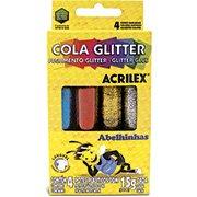 Cola colorida 15g c/gliter 4 cores 02924 Acrilex (209301)