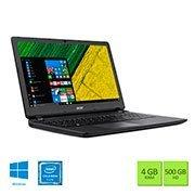 Notebook ES1-533-C27U, Processador Quad Core de 1.1ghz, Memória de 4gb, HD de 500gb, Tela de 15.6