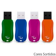 Pen Drive 8gb Titan Colors Smarto Go PD517 Multilaser BT 1 UN