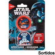 Apontador c/deposito + 1 borracha Star Wars 683867 Tris BT 1 UN