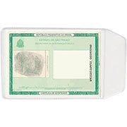 Porta documento transparente 0,10 c / aba 105x75mm 3910 Plastpark