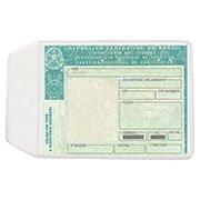 Porta documento transparente 0,10 c / aba 90x65mm 3911 Plastpark