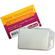 Porta documento transparente 0,10 c / aba 65x90mm 239 Plastpark