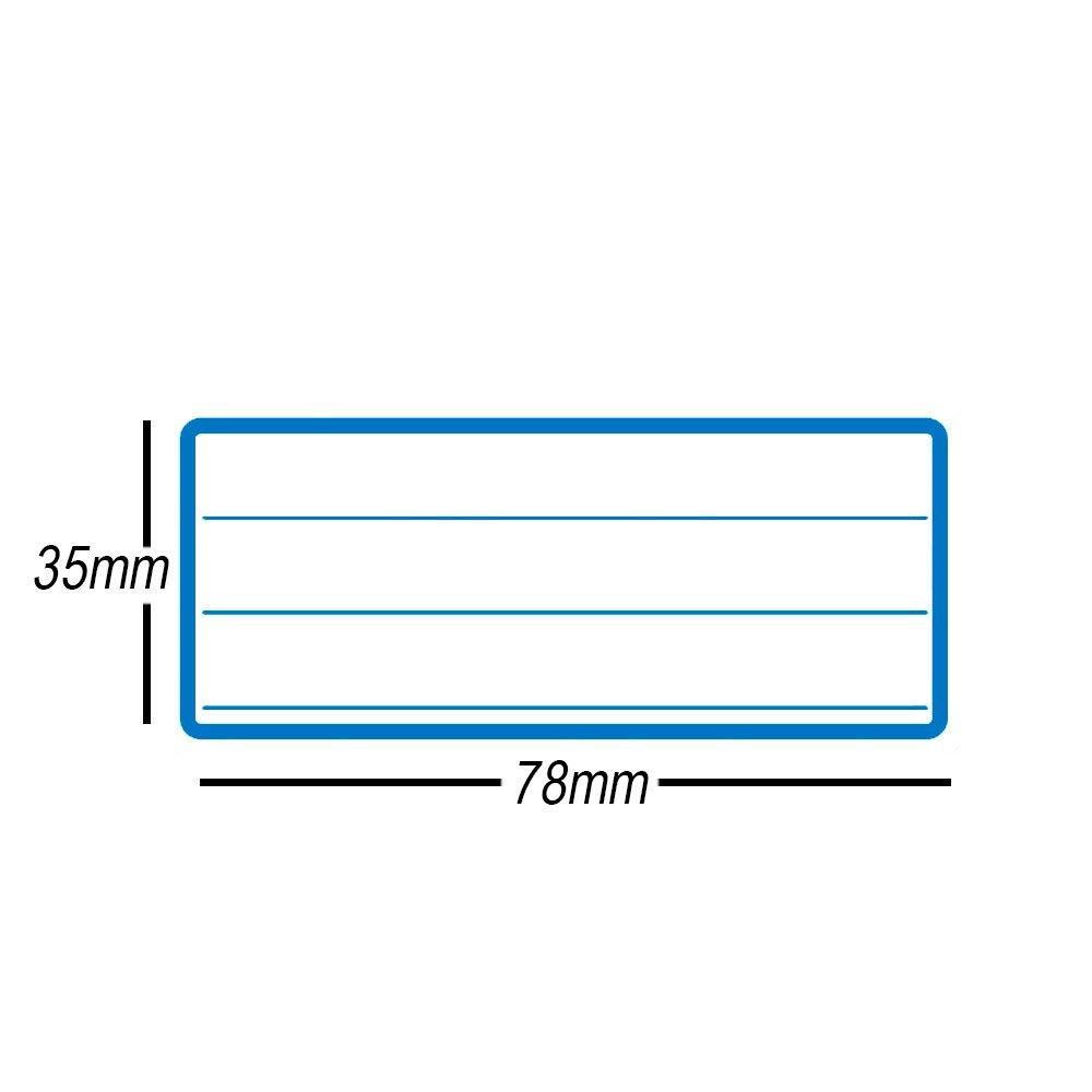 Etiqueta Adesiva Escolar 35x78mm C Pauta C Tarja Azul Op3578