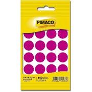 Etiqueta adesiva p/ codificação 19mm magenta TP19FLM Pimaco (277739)