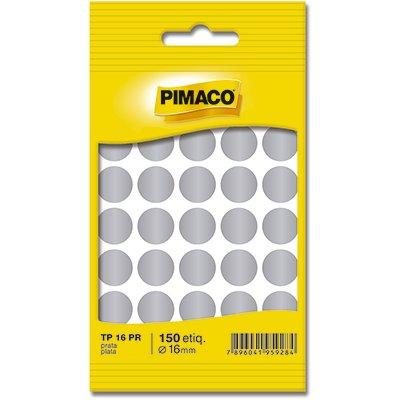 Etiqueta Adesiva P Codificacao 16mm Prata Tp16pr Pimaco