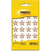 Etiqueta adesiva p/ codificação 18,79mm estrela dourada Pimaco (277761)