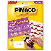 Etiqueta ink-jet/laser glossy Carta 104g 46,6x63,5 7072 Pimaco (278819)
