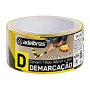 Fita adesiva demarcação solo 48mmx14m zebrada pt / am Adelbras