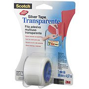 Fita adesiva silver tape 38mmx4,57m transparente Scotch 3M BT 1 UN