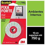 Fita adesiva dupla face espuma Fixa Forte 12mmx1,5m Scotch 3M BT 1 UN bc5ef35d20