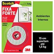 Fita adesiva dupla face Fixa Forte 24mmx1,5m (banana) Scotch 3M