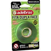 88f1f009c9f Fita adesiva dupla face massa acrílica Fixa Pro 19mmx2m Adelbras BT 1 UN